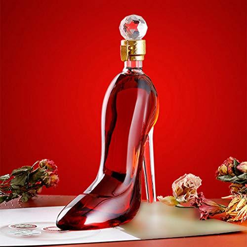 High Heel Shape Glass Wine Bottle - AmzChart