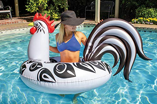 Rooster Inflatable Pool Float - AmzChart