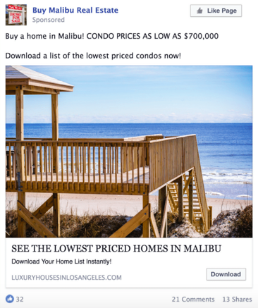 6 Real Estate Facebook Ad Examples That Really Works-AdTargeting