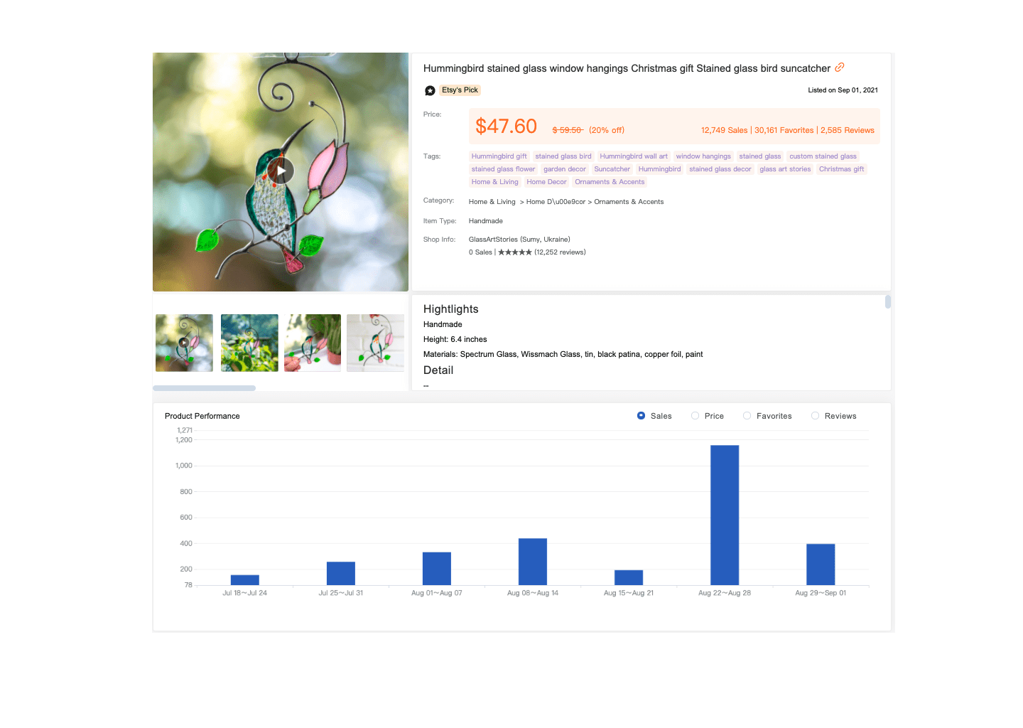 top etsy product research tool