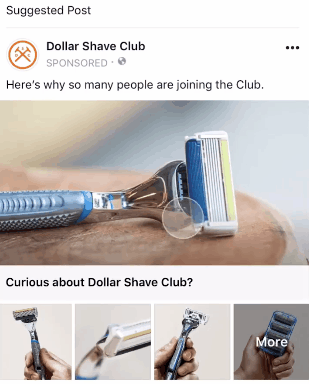 Facebook boutique column advertising