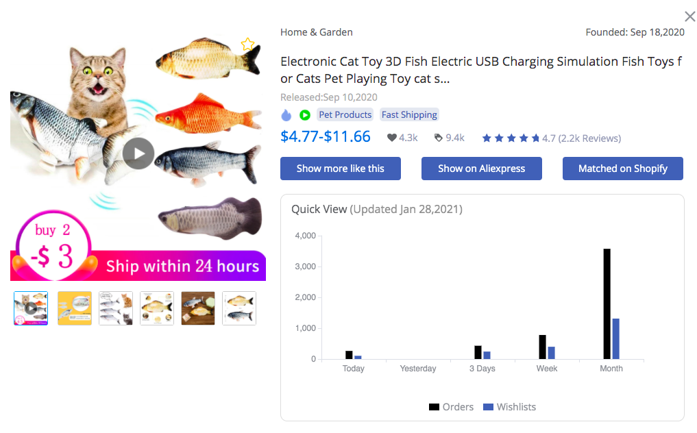 Electronic 3D Fish Cat Toy - FindNiche