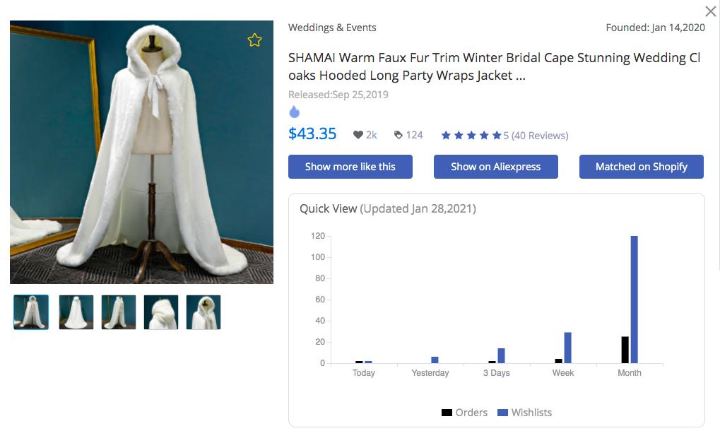 Winter Bridal Cape - FindNiche