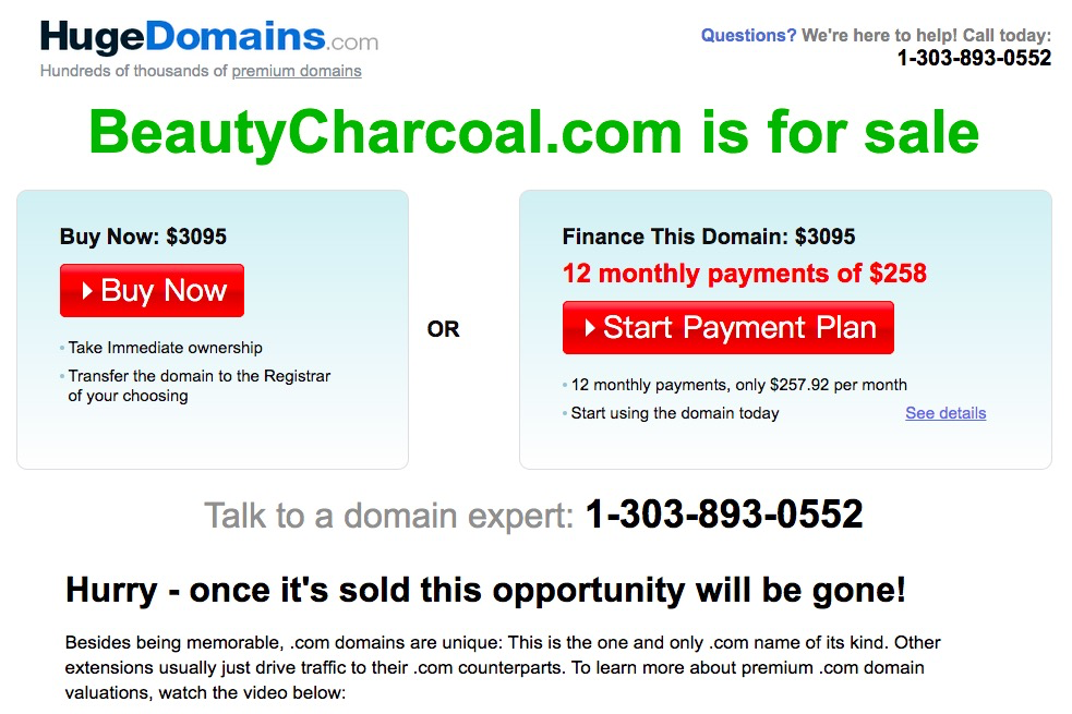 beautycharcoal.com is for sale