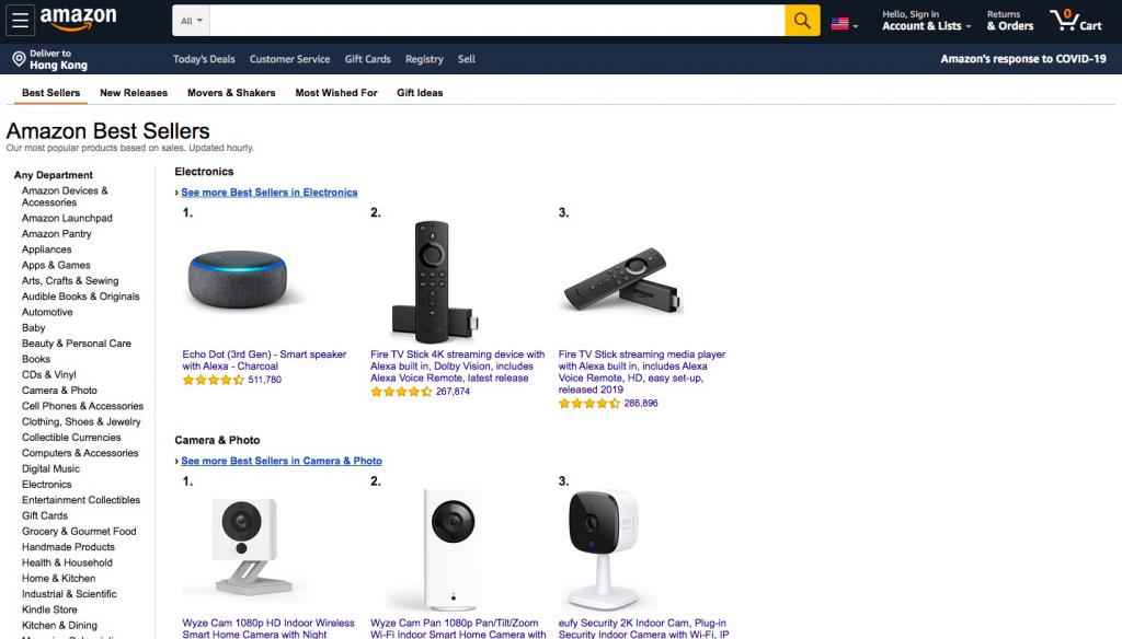 Amazon Best Sellers Rank -- AmzChart