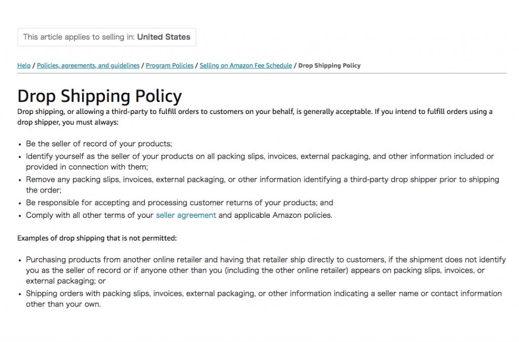 Amazon dropshipping policy -- AmzChart