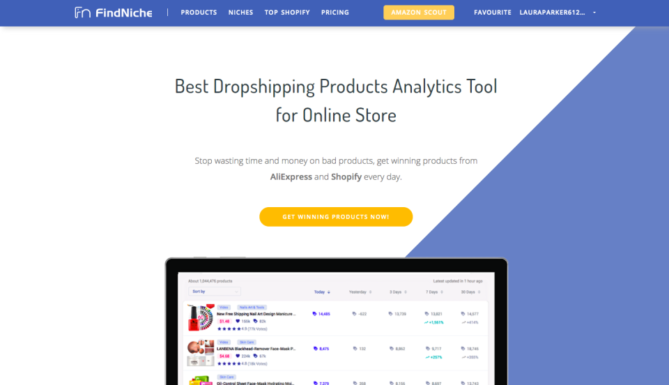 spy your Shopify competitors with FindNiche